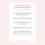 5 Common Beauty Myths
