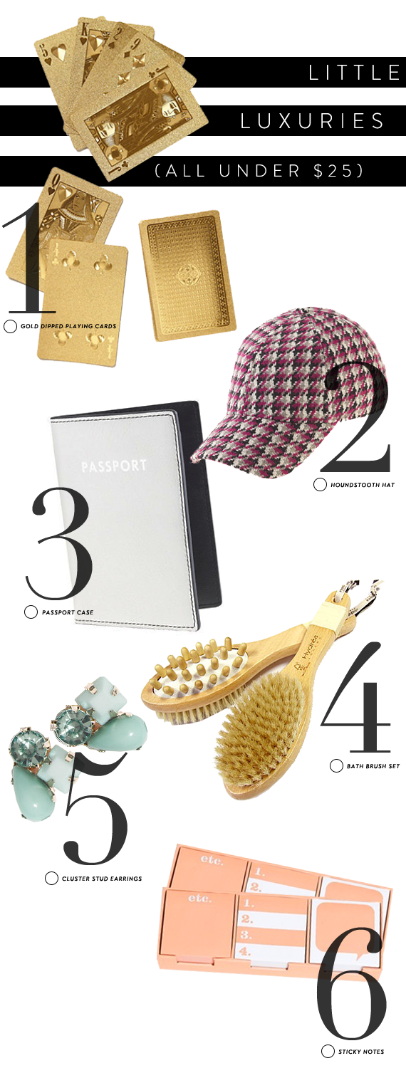little luxuries - fun things under $25