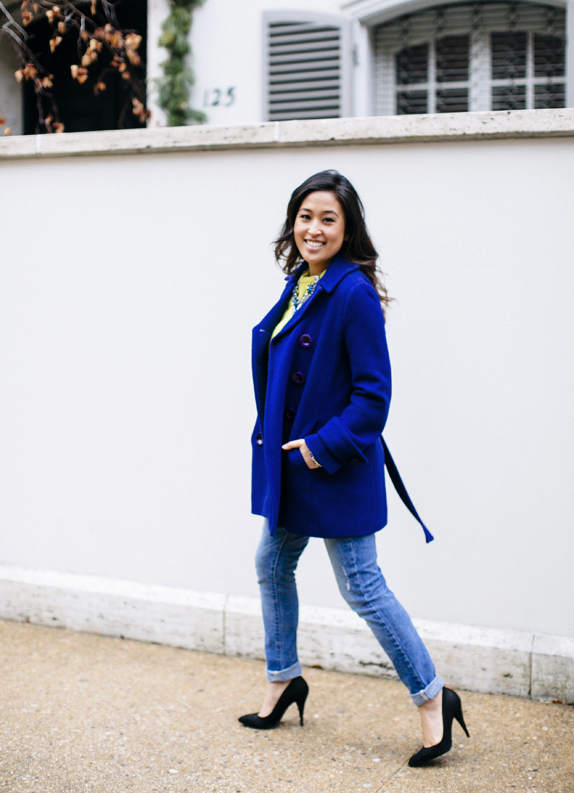 colorful winter outfit
