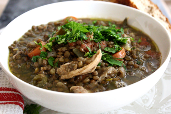 recipe for chicken and lentil stew