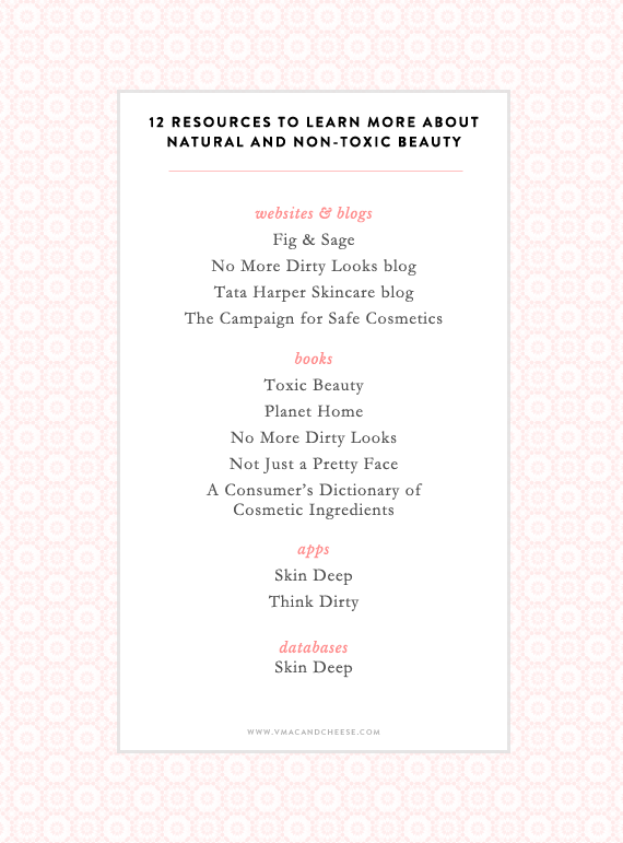 resources to learn more about non toxic and natural beauty products