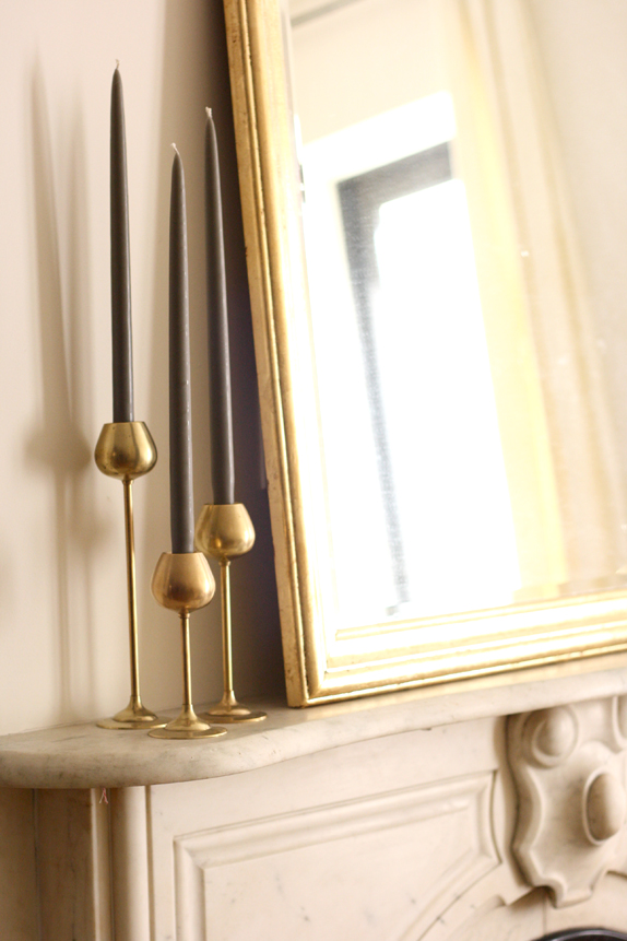 mid century brass candlesticks from hunters alley