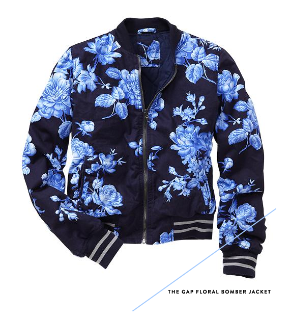 gap floral bomber jacket