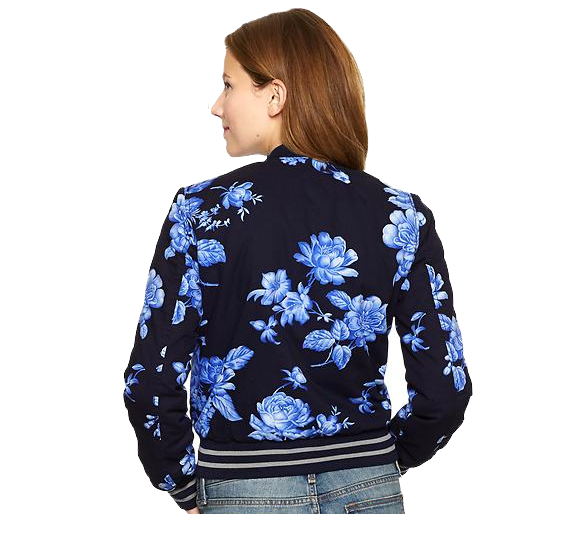 floral bomber jacket from gap