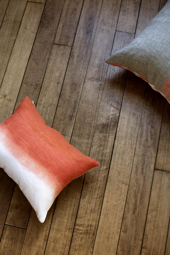 rebecca atwood - tangerine dip dye wave pillow