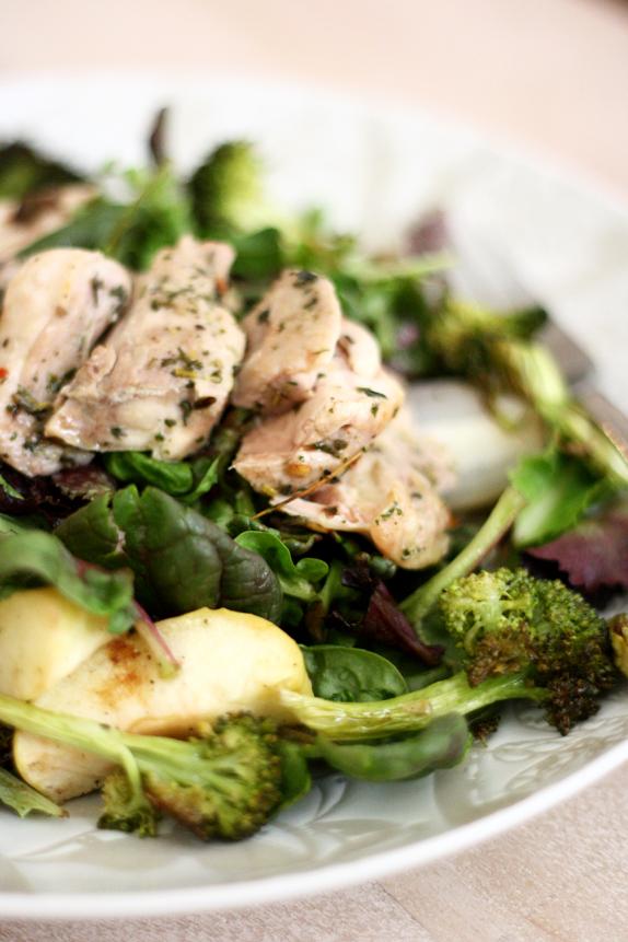 roasted fruit and vegetable salad