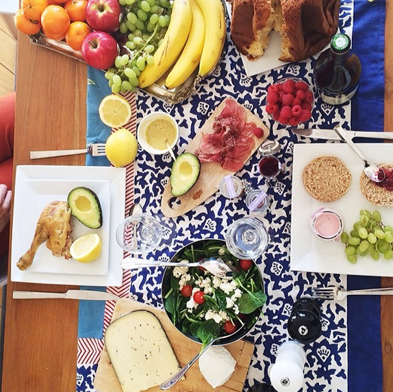 brunch - photo from sezane instagram