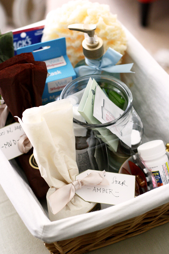 DIY guest welcome basket