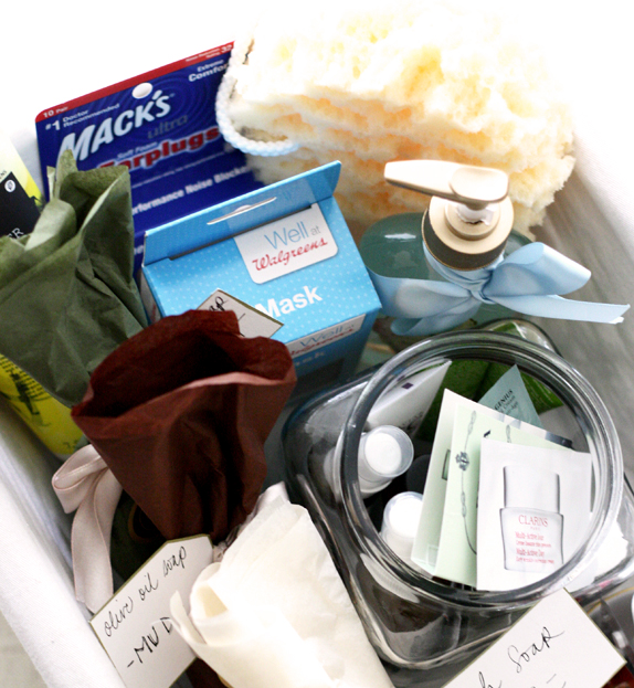 guest welcome basket - great idea for house guests