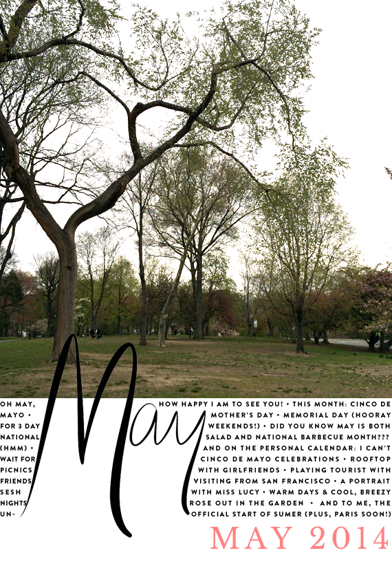 the month ahead -- may