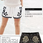 Summer Trend: Embroidered Shorts