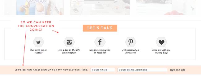social quick links