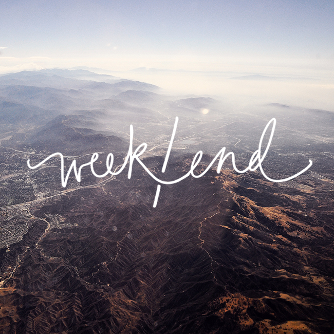 weekend - photo by superfamous, graphic by victoria mcginley