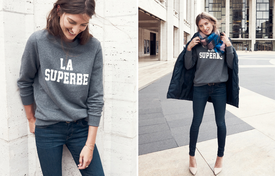 la superbe sweatshirt sezane