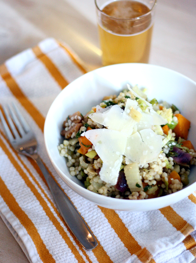 couscous pasta salad with thanksgiving leftovers