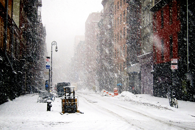 new york snow, lower east side, by Roey Ahram