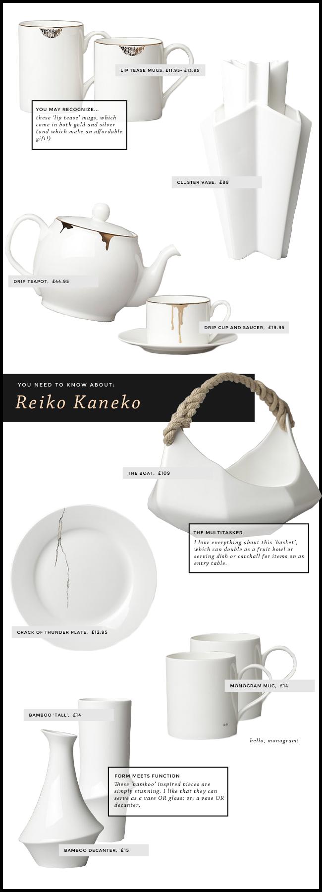 reiko kaneko home decor ceramics