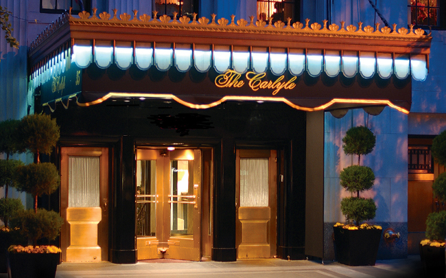 the carlyle hotel, nyc