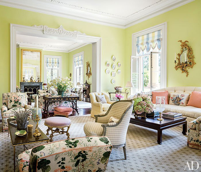 patricia altschul - charleston home drawing room