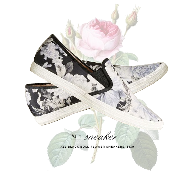 anthropologie all black bold flower sneaker