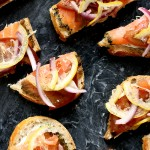 Recipe: Gravlax Tartines with Shaved Lemon and Herbed Cream Cheese