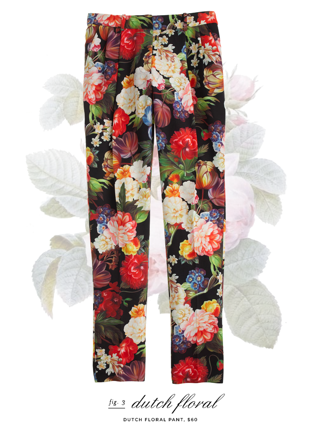 jcrew dutch floral pants - on sale
