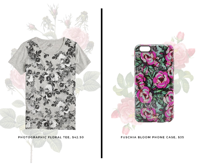 photographic floral tee