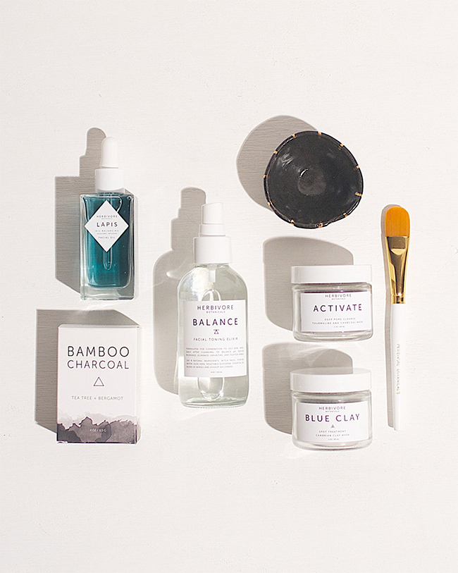 herbivore skincare set for oily skin
