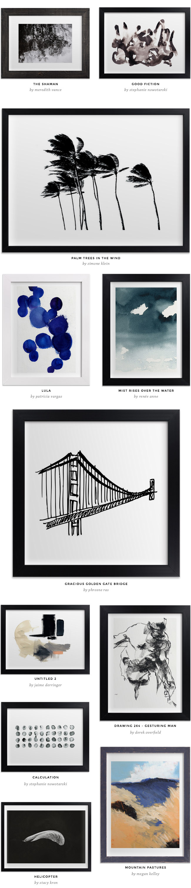 minted art marketplace - great resource for affordable art and frames
