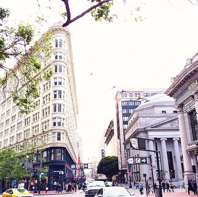 in downtown san francisco, market street