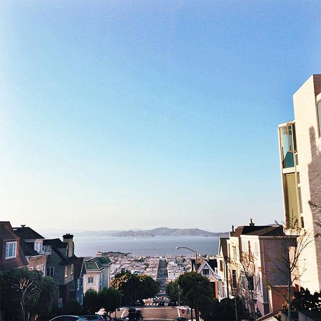 view from divisadero and broadway, san francisco