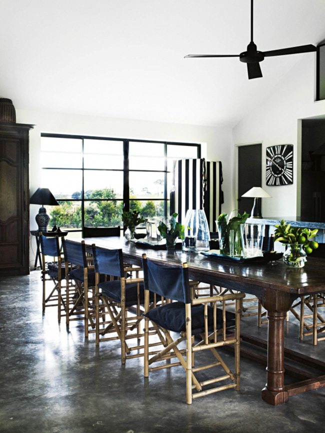 dining room - jilly hampshire barn house, vogue living au