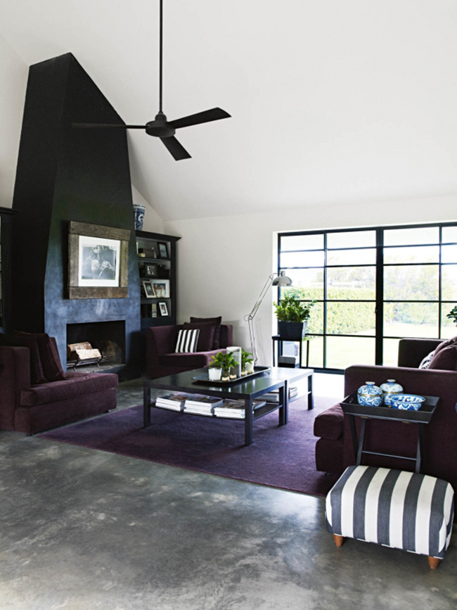 living room - jilly hampshire barn house, vogue living au