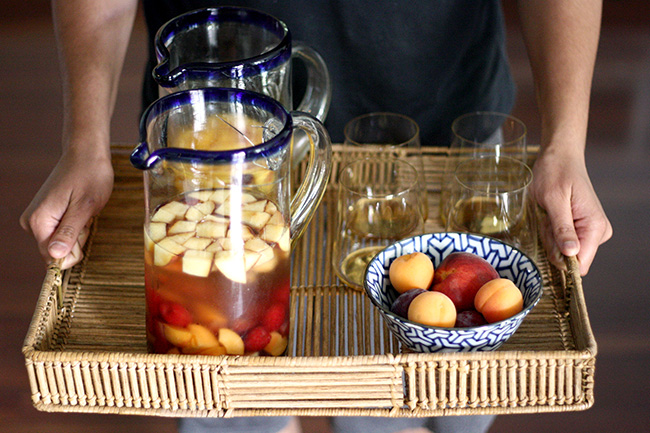 recipe for summer sangrias, two ways