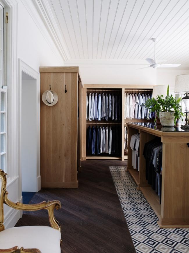 bedroom tour - vogue AU - justin hemmes closet