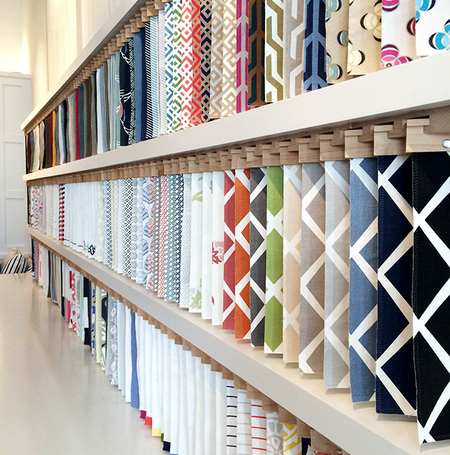 fabric library at serena & lily, san francisco