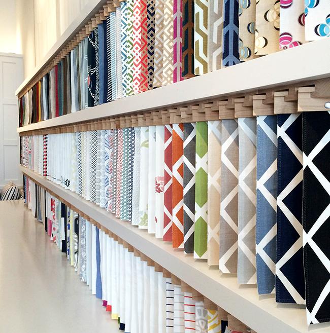 fabric library at serena & lily, san francisco