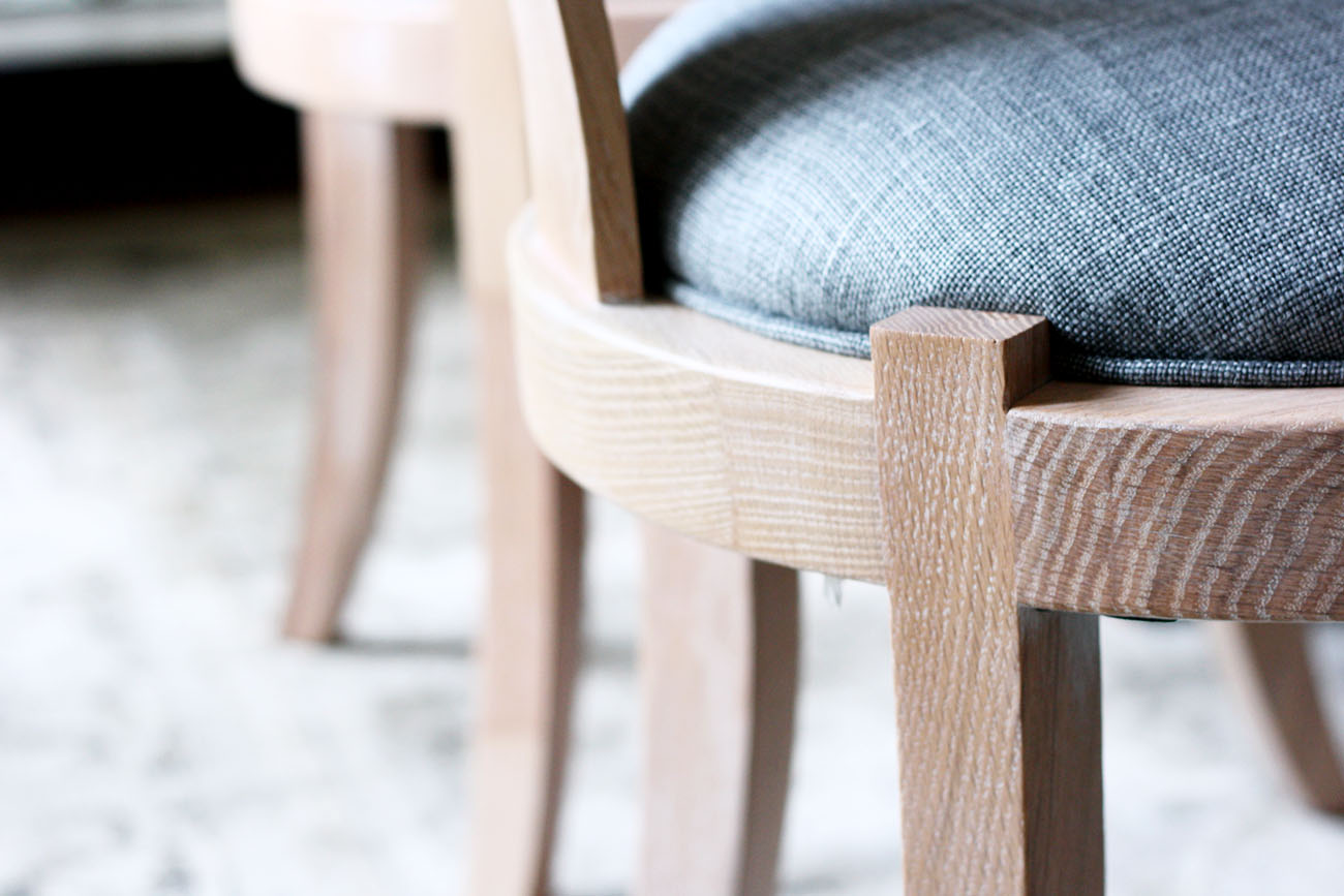 serena and lily josephine dining chair detail
