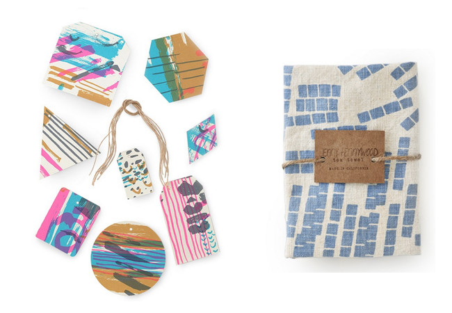 paper goods and tea towels from jenny pennywood