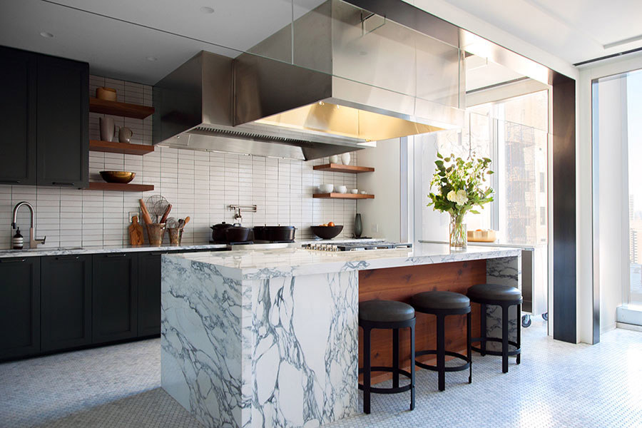 bon appetit test kitchen, from architectural digest (photo by danlly domingo)