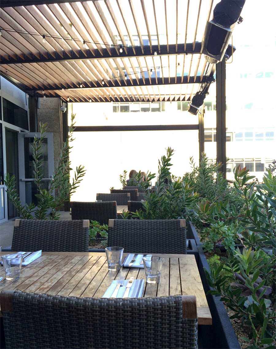patio at stem in mission bay, san francisco -- great place to go before sf giants baseball game