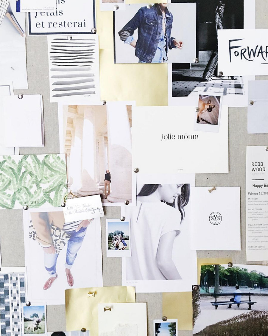 inspiration board - photo by victoria mcginley