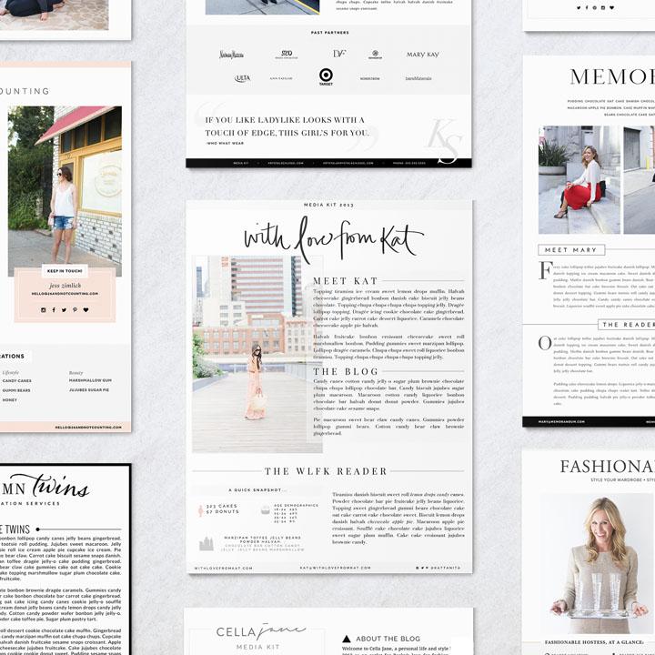 Blogger Media Kits | designs by Victoria McGinley Studio