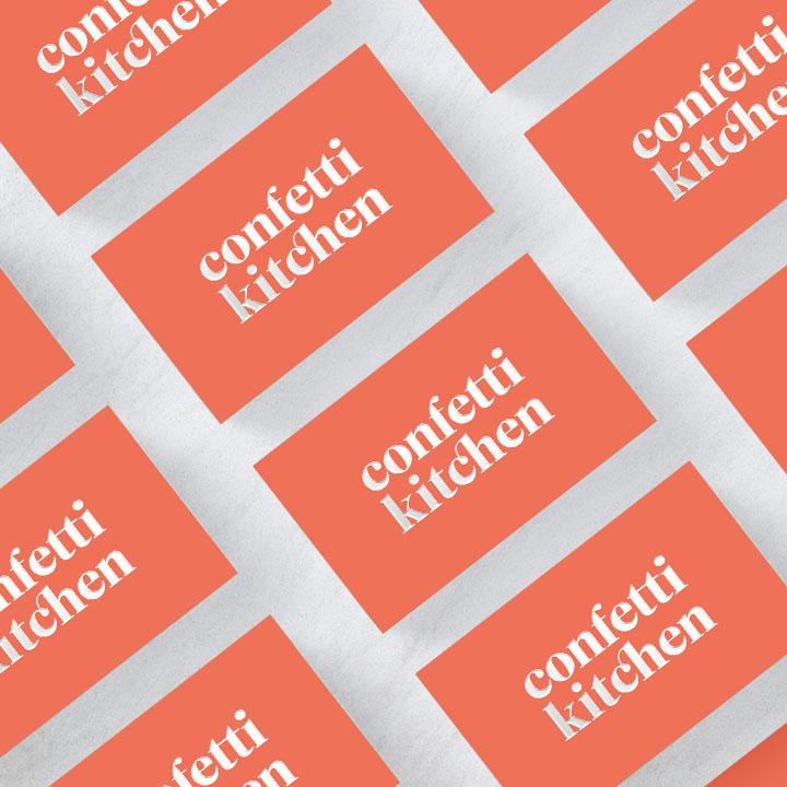 Confetti Kitchen | identity and site design by Victoria McGinley Studio