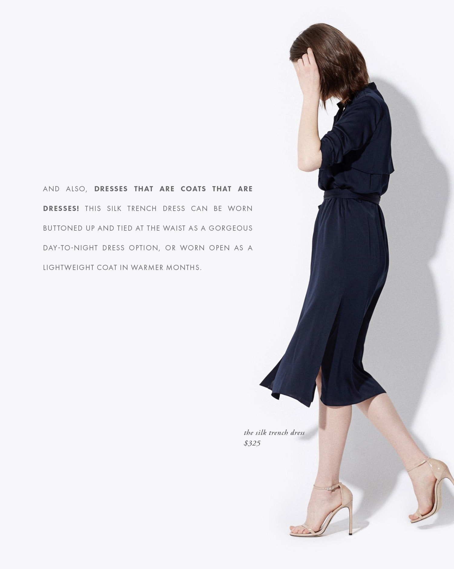 ayr silk ternch dress | victoria mcginley studio