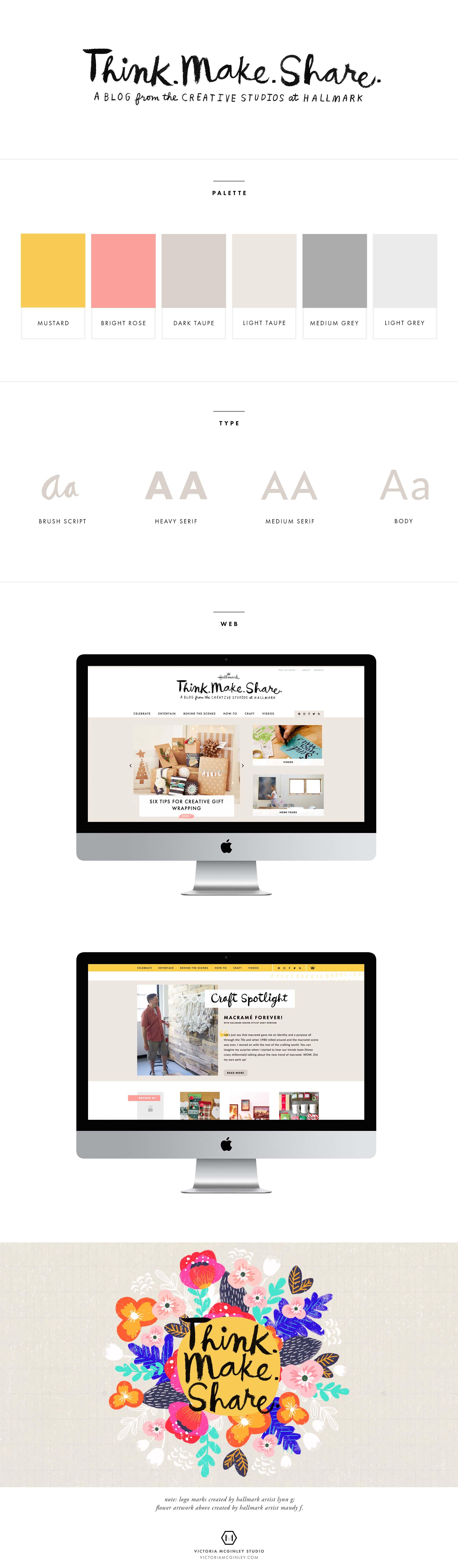 Think Make Share blog by Hallmark | web design by @victoriamstudio