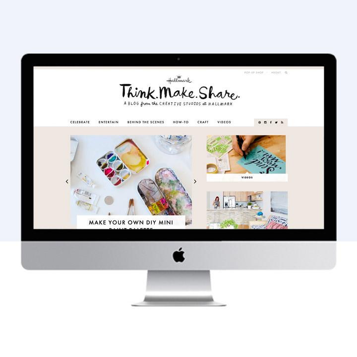 Think Make Share by Hallmark | blog design by Victoria McGinley Studio