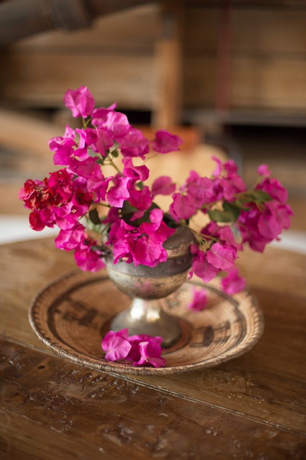 bougainvillea vase | image by Studio EMP with floral design by Lavenders Flowers
