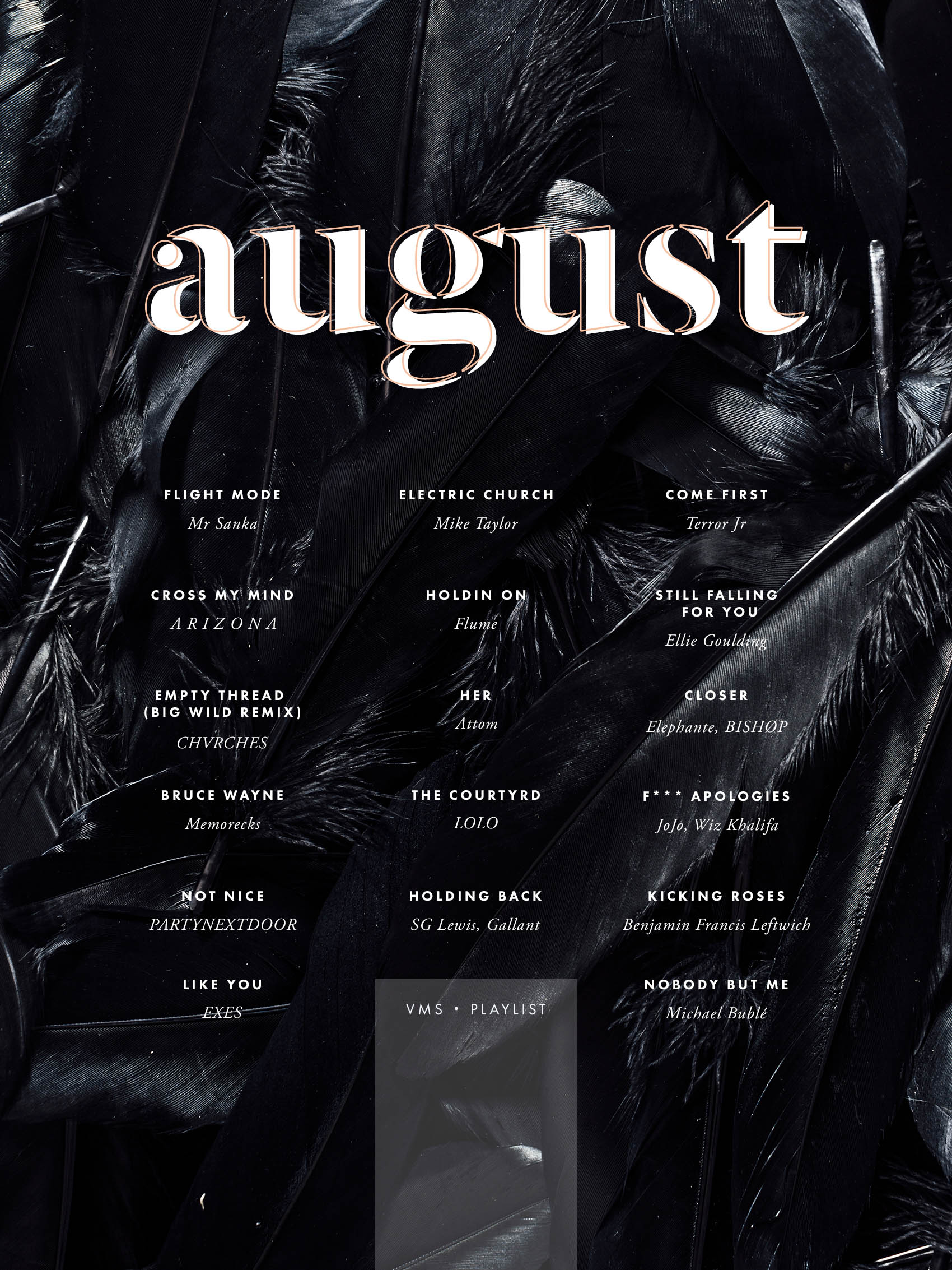 august playlist by @victoriamstudio