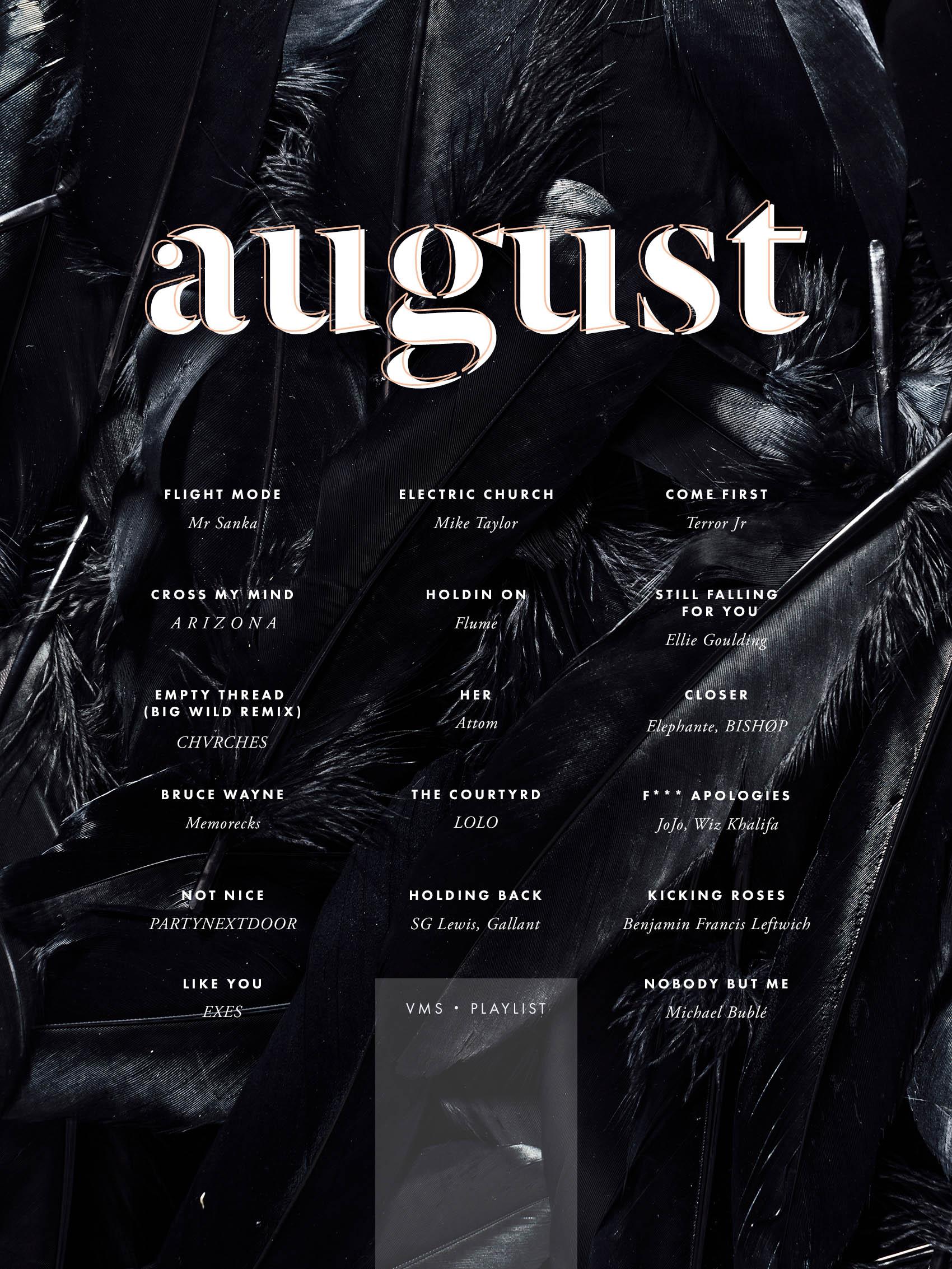 august playlist by @victoriamstudio